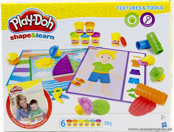 Play-Doh Shape & Learn - Textures & Tools